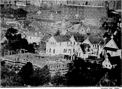 ADDITIONS TO ST. MARY'S COLLEGE.—View taken from Wadestown Hill showing the progress of' work in t... [truncated] Evening Post,  7 May 1930, Page 9